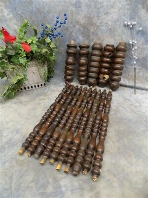 Lot Wood Spindles Architectural Salvage Fretwork Furniture House Trim Vintage O