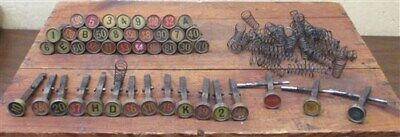 NCR 1926 National Cash Register Brass Keys Buttons Parts Numbers Steampunk e