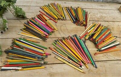Vintage Pencils Advertising Signs Arts Crafts Folk Art Projects Store Rare d