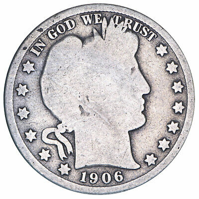 1906 O Barber Half Dollar 90% Silver About Good AG