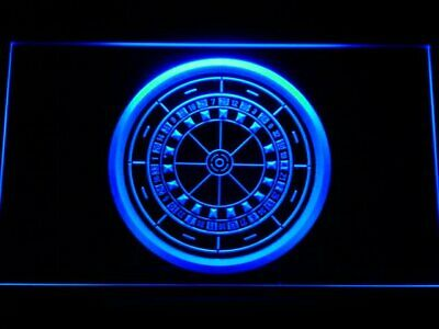 m074-b Casino Roulette Game Neon Light Sign