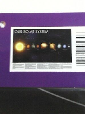 SOLAR SYSTEM WALL MAP 28 x 40 Planets Poster SPACE PRINT Wall Decor ASTRONOMY