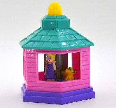 Polly Pocket 1999 Subway house gazebo restaurant giveaway toy Mattel Vintage