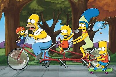 The Simpsons - Classic Cartoon Tv Series Photo Poster / Framed Canvas Pictures