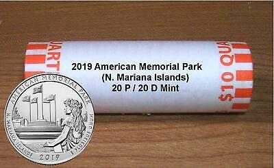2019 AMERICAN MEMORIAL PARK, N. Mariana Islands  20 P / 20 D ROLL **IN STOCK **