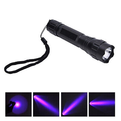 UV WF-501B LED 365NM Ultra Violet Blacklight Flashlight Torch 18650 Light LampGV