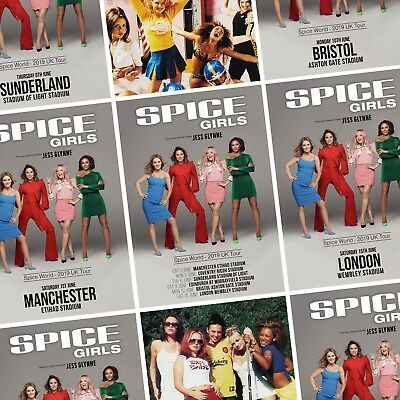 Spice Girls World 2019 Regno Unito Stadio Tour Foto Stampa Poster Power Art