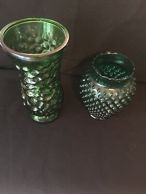 Antique ~ Decorative ~ Hoosier glass 4 ~ and small vase