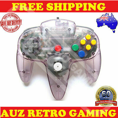 Genuine N64 Nintendo 64 Atomic Purple Controller Official REFURBED