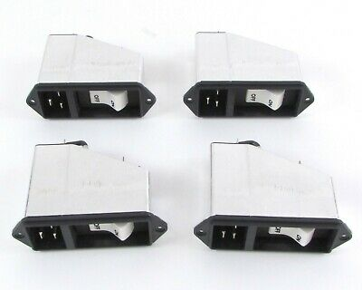 Lot of (4) Schurter EF12.1511.2110.01 Power Entry Module Receptacle 16A 250VAC