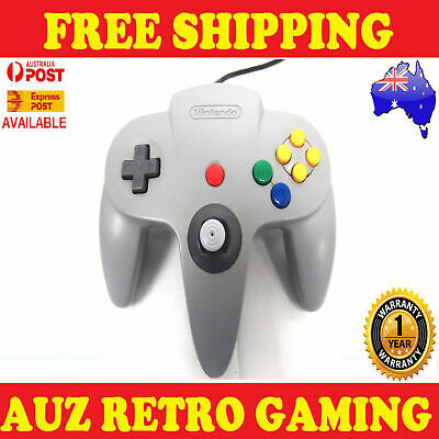 Genuine N64 Nintendo 64 GREY Controller Official REFURBED