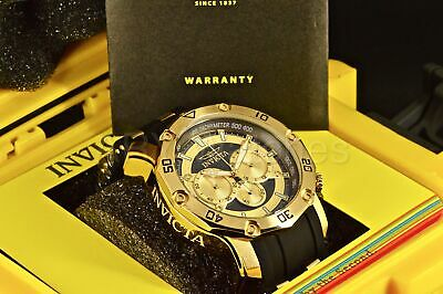 30029 Invicta 50MM Scuba Pro Diver Master Of The Oceans Chrono Gold Dial Watch