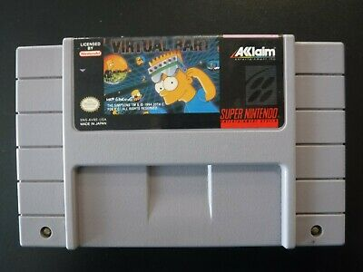 Authentic Super Nintendo SNES The Simpsons Virtual Bart Cartridge Only