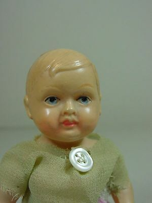 P836/ Antike Cellba Celluloid Baby Puppe um 1920 ca.11 cm.