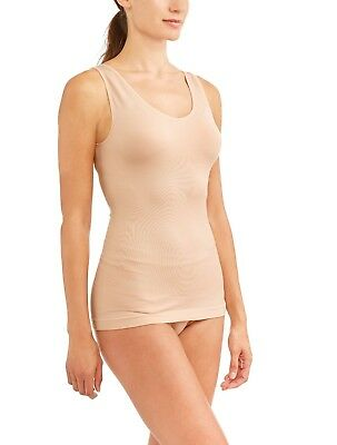 Life by Jockey Women's Slimming V Neck Tank Top Nude Size Small 4-6 NEW
