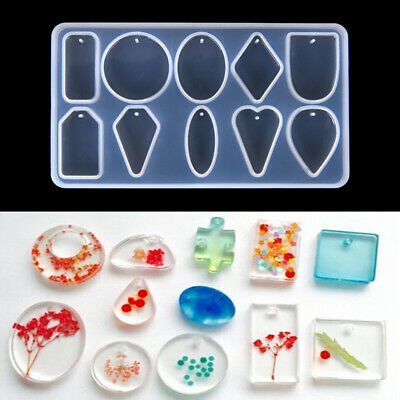 Silicone Pendant Resin Mold for DIY Jewelry Making Tool Mould Handmade Craft GVU