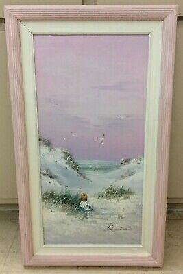 "Original  Oil On Canvas Painting, Artist Signed, Seascape , 12 X 24""."