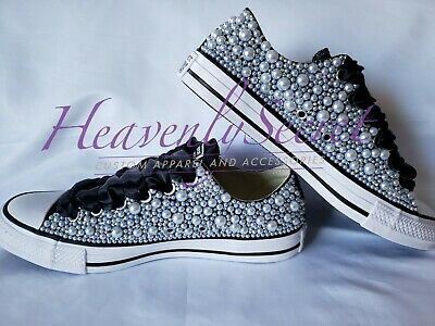 3af0d08fa732 WEDDING CONVERSE BLINGED Out and Personalized Bridal Sneaker for the ...