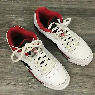 superior quality d7faa 2d647 Youth Nike Air Jordan 5 Retro Low (GS) 314338 101 White  Red