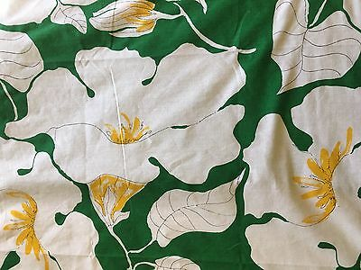 Vintage VERA Burlinngton Sheets Green White Flowers TWIN FITTED Bedding