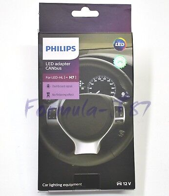 Philips LED Canbus Canceler H7 Head Light Bulb Low Beam Warning Adapter Code Fix