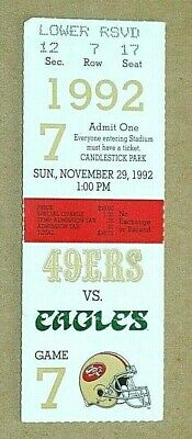 NFL 1992 San Francisco 49ers vs Philadephia Eagles