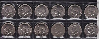 United States Half Dollar Coins Dates from 1971 to 1997 all different 12 Coins