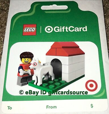 Target 2019 Gift Card Lego Man W/Bullseye Dog House No Value New Collectible