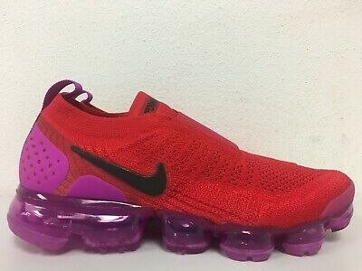 16ee3bd916 Nike Womens Air Vapormax Flyknit Moc 2 University Red Black AJ6599 600 Size  8.5