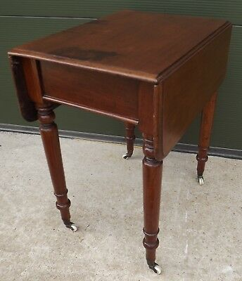 Antique Victorian Small Mahogany Pembroke Work / Dining Table