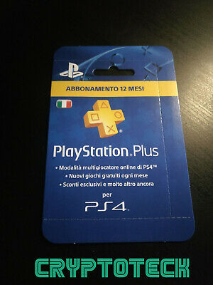 Abbonamento PLAYSTATION PLUS 12 Mesi - PS4/PS3/PS VITA -ITA-INVIO IMMEDIATO
