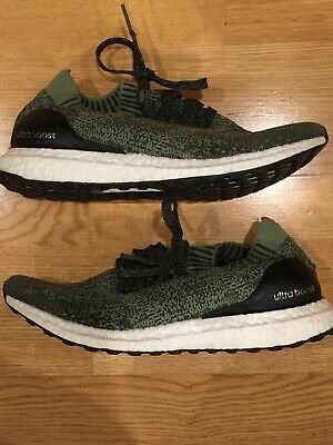 check out e44e9 489bf ADIDAS ULTRA BOOST Ultraboost Uncaged Tech Earth Base Green Olive Sz 8 Mens  UB