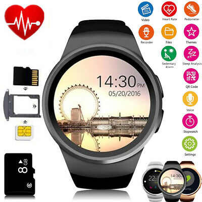 KW18 Waterproof Bluetooth Sports Smart Watch Sim Mate For Android iPhone Samsung