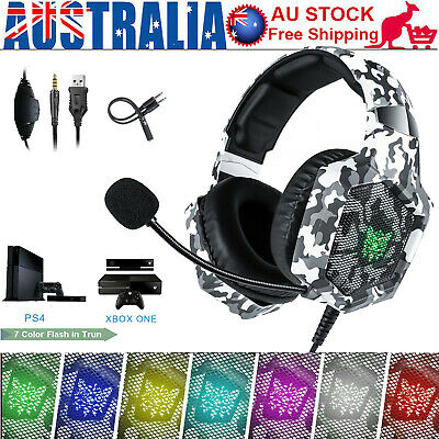 ONIKUMA K1 3.5mm Stereo Gaming Headset Headphone with Mic for Laptop PC PS4 U0T6