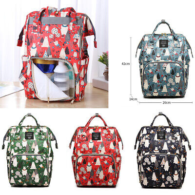 Multifunctional Large Baby Diaper Nappy Backpack Mummy Changing Bag Waterproof