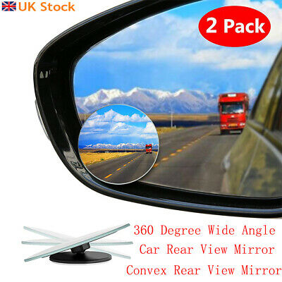 Auto Car Rearview Mirror HD Blind Spot Mirror 360° Borderless Rearview Side View