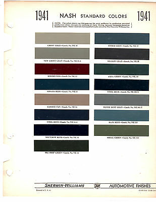 1941 SHERWIN-WILLIAMS PAINT and Color Style Guide Retro Mid-Century