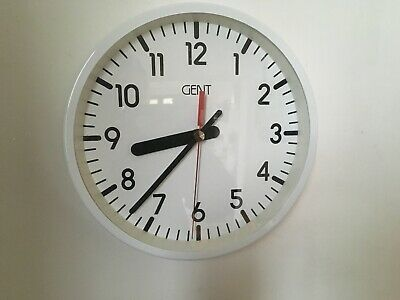 Vintage circa 1980s Gent School Wall Clock Lovely
