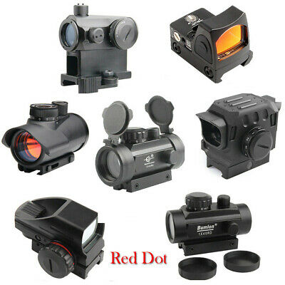 Holographic Tactical Red Green Dot Sight Reticle Reflex Rifle Scope for Hunting