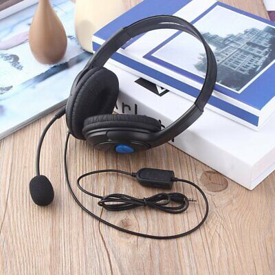 Stereo Wired Gaming Headsets Headphones with Mic for PS4 Sony PlayStation BI
