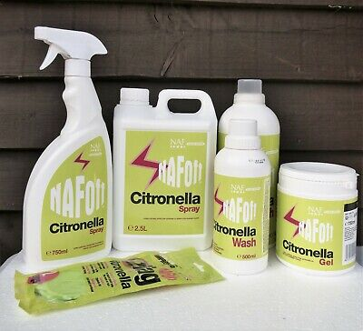 NAF Off Citronella for Horses Insect Midge Fly Repellent Spray Refill Gel Wash