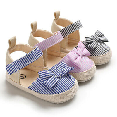 Newborn Baby Girl Crib Shoes Infant inhouse Crawling Shoes Child BowKnot Sandals