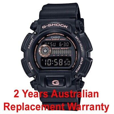 CASIO G-SHOCK DIGITAL WATCH DW-9052 BLACK x ROSE GOLD DW-9052GBX-1A4 2Y WARRANTY