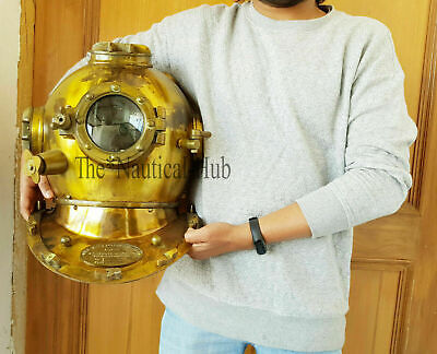 "Diving Helmet U.S Navy Mark V Deep Sea Antique Scuba Vintage 18"" Divers Helmet"