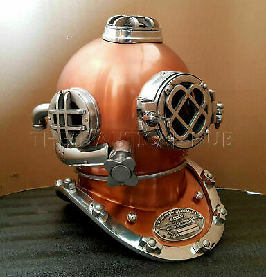 Vintage Diving Helmet Antique Scuba U.S Navy Mark V Scuba Divers Helmet Gift