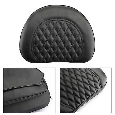 1x New Motorcycle Driver Backrest Cushion Pad For Touring FLHX FLHT