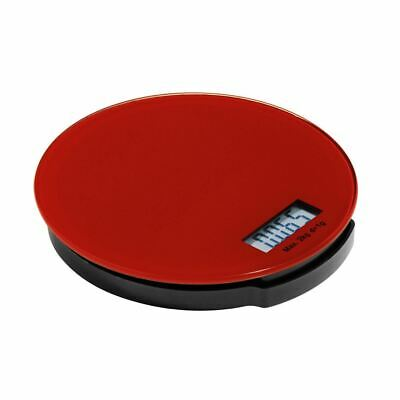 Zing Kitchen Scale,Red Glass/ABS Base,Electronic 2kg - BLPH3571