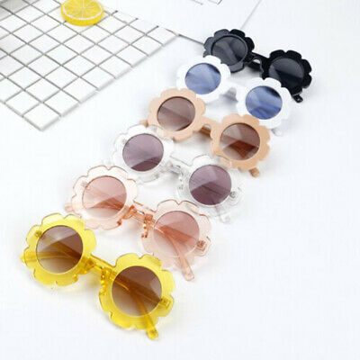 Fashion Cute Baby Kids Flower Sunglasses Toddler Soft Frame UV400 Goggles NEW AU