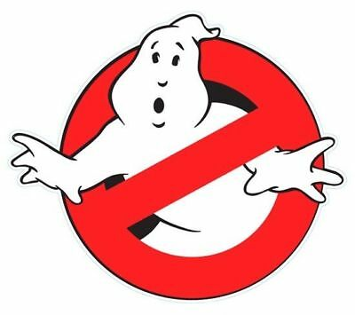 Shaped Vinyl Window Sticker 12x10cm Ghost Busters Halloween retro ghoul scary