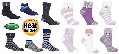 Ladies Thermal Warm Heat Holders Cosy Sleep Fluffy Bed Socks Uk 4-8  37-42 Eur